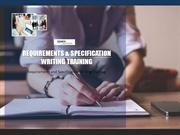 High Value Requirements and Specification Writing Training