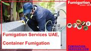 Fumigation Services UAE, Container Fumigation