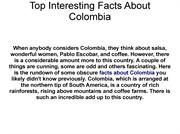 Colombia Facts and Information