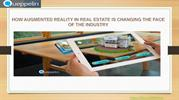 Augmented Reality in Real Estate| Benefits of AR and VR in Real Estate