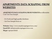 APARTMENTS DATA SCRAPING FROM WEBSITES
