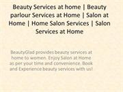 Beauty Services at home In Noida