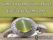Some Information About Cat's Eye Gemstone