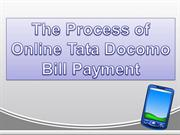The Process of Online Tata Docomo Bill Payment