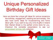 Unique Personalised Birthday Gift Ideas