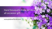 Hand bouquets make an ideal all-occasion gift_send flowers to sharjah
