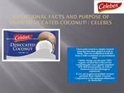 100% Desiccated Coconut at Best Price