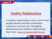Building a healthy relationship Fixing Relationship Problems