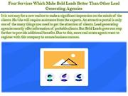 Four Services Which Make Bold Leads Better Than Other Lead Generating