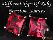 Different Type Of Ruby Gemstone Sources