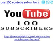 How to buy 100 subscribers on youtube