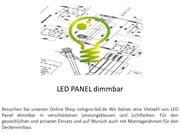 LED PANEL dimmbar