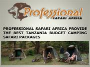 PROFESSIONAL SAFARI AFRICA PROVIDE THE BEST TANZANIA BUDGET CAMPING SA