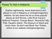 Places To Visit in Alabama