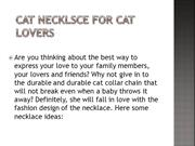 CAT NECKLSCE FOR CAT LOVERS