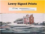 Lowry Signed Prints on Sale