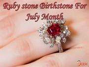 Ruby Stone Birthstone For July Month