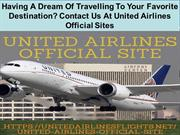 United Airlines Official Sites Provide You World Class Facilities