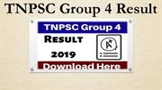 TNPSC Group 4 Result 2019 - Check Tamil Nadu PSC Group 4 Result