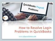 How to Resolution Login Problems in QuickBooks