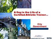 Day in the Life - City Government