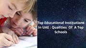 Top educational institutions in uae |