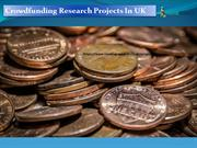 Crowdfunding Research Projects In UK