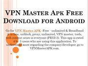 VPN Master Apk Free Download for Android