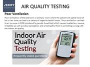 Air Quality Testing in Toronto