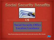 Benefits of Social Security | Social Security Office Locations USA