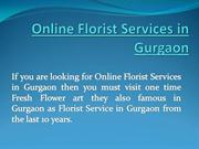 Online Florist Services in Gurgaon