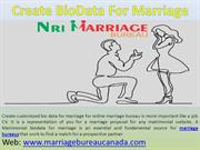 Create BioData For Marriage – Marriage Bureau Canada