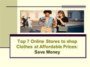 Top 7 Online Stores to shop Clothes at Affordable Prices: Save Money