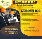 Join Nebosh IGC Safety Course in Saudi Arabia