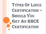 Which Linux Certification like RHCE certification Should I Get?