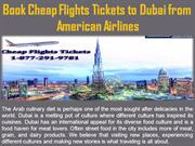 Book Cheap Flights Tickets to Dubai from American Airlines