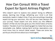 How Can Consult With a Travel Expert for Spirit Airlines Flights