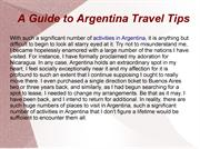 A Guide to Argentina Travel Tips