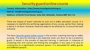 Security guard online course