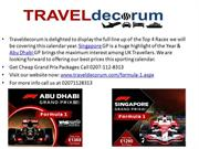 Book Grand Prix Travel package Singapore and Abu Dhabi