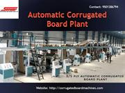 Automatic Corrugated Board Plant - Corrugated Board Plant - 3 & 5 Ply