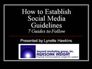 How to Establish Social Media Guidelines