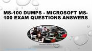 Exact Certout Microsoft MS-100 Exam Questions