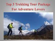 Top 3 Trekking Tour Package For Adventure Lovers