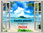Exotic Places to Explore in India | Cheap Tickets Vancouver to India