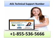 1-855-536-5666 AOL Technical Support Number