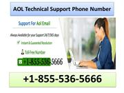 1-855-536-5666 AOL Technical Support Phone Number