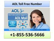 1-855-536-5666 AOL Toll-Free Number
