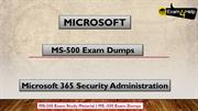 MS-500 Exam Dumps | Get Valid MS-500 PDF Questions Answers