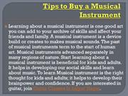 Tips to Buy a Musical Instrument